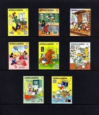 Antigua - 1989 - Disney - Stamps On Stamps - Mickey - Donald + 8 X Mnh Set!