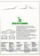1986 Bertone Fiat X19 Shape Original Advertisement Print Art Car Ad J714