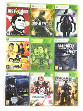 Lot 9 Xbox 360 Just Cause Sniper Gear of Wars 3 Halo 3 Darksiders 2 Call of Duty