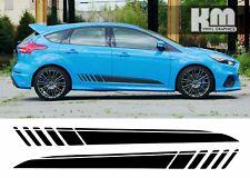 Ford Focus RS-Vinilo calcomanías decorativas Rayas Laterales-Varios Colores