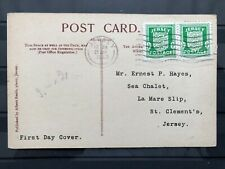Germany, Occupied Jersey, Pair Of Sc# N1 On First Day Post Card