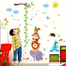 XXL Wandtattoo Kinder Meßlatte Sticker Kinderzimmer Afrika Tiere Elefant Löwe