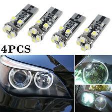 4PCS  Error Free W5W 8 SMD Angel Eyes LED Ring Marker Bulbs For BMW E60 Pre-LCI