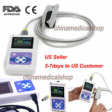 Handheld OLED Pulse oximeter Heart Rate Monitor SPO2 Oxygen Saturation +Software
