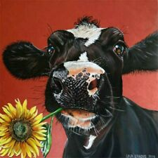 Full Drill DIY 5D Cow Sun Flower Diamond Painting Kits Art Embroidery Decor Gift