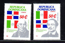 DOMINICAN REPUBLIC #1029-1030 1988 INDEPNEDENCE DAY MEXICO   MINT  VF NH  O.G