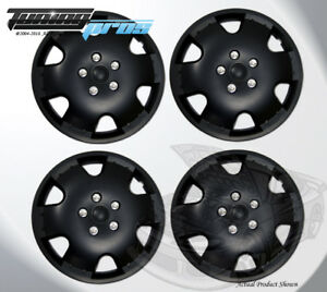 "Pop-On Wheel Rims Skin Cover 15"" Inch Matte Black Hubcap 15 Inches #720 Qty 4pc"