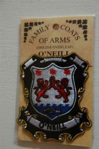 O'NEILL Family PATCH Heraldic Coat of Arms - Crest - Embroidered - Badge