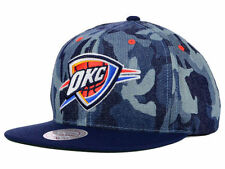 Oklahoma City OKC Thunder Mitchell & Ness Blue Denim Camo Snapback Cap Hat $32
