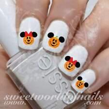 Disney Halloween Nail Art Pumpkin Mickey Minnie Mouse Water Decals