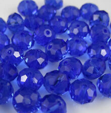 100pcs blue exquisite Glass Crystal 3*4mm #5040 loose beads