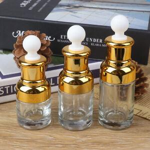 20/30/40ML Glass Liquid Pipette Bottle Eye with Glass Dropper AromatheHFUK