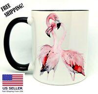 Flamingo Love, Birthday, Christmas Gift, Black Mug 11 oz, Coffee/Tea