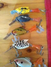 Lot of Vtg Heddon Firetail Sonics fished condition