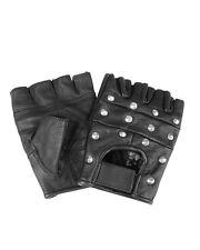 Mil-Tec Lederhandschuhe fingerlos mit Nieten Fingerhandschuhe Handschuhe XS-XXL