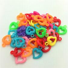 50pcs Mixed LOVE Acrylic Perforation beads Children Kid DIY Jewelry Making #11