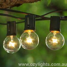 25 Piece Festoon Outdoor Globe Pergola Deck Party String Lights - Light Duty