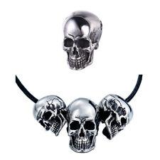316L Colgante Acero Inoxidable Collar Calavera Cráneo Plata Motero Hombre