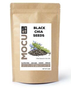 3 LBS PREMIUM BLACK CHIA SEEDS - Gluten-Free, Non-GMO, Grown Organically