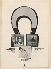 ELP Triology Mountain Live Roxy Music LP advert Time Out cutting 1972