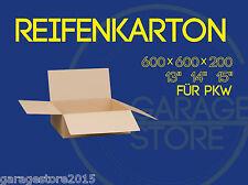 """8x Räderkarton Reifenkarton 600x600x200mm Verpackung für PKW 13 """"14"""" 15 Zoll"""
