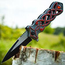 """8"""" Scottish Dirk Spring Assisted Open Folding Pocket Knife Dagger Celtic Sgian"""