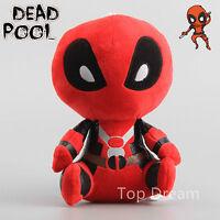 Cartoon Deadpool Plush Toys Stuffed Doll 20cm 8'' Teddy Kids Gift New