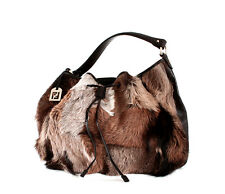 Fendi Fur Bag Drawstring Shoulder Hobo Tote