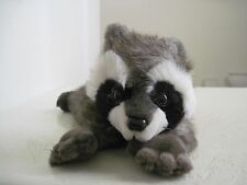 "MJC Wild Animal RACCOON 14"" Plush Stuffed Animal Black White"