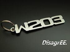 """Llavero """"w203"""" C clase 230 320 350 c32 c55 AMG-acero inoxidable brillante"""