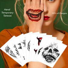 Temporary Tattoo for Men Women Kids Halloween Skull Letter Mandala Rose for Hand