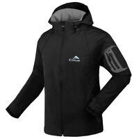 Men Soft Shell Waterproof Outdoor Jacket Windstopper Hiking Camping Ski Jackets