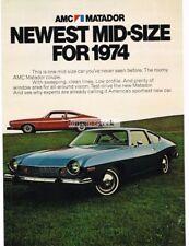 1974 AMC Matador Blue or Red Coupe 1973 VTG PRINT AD