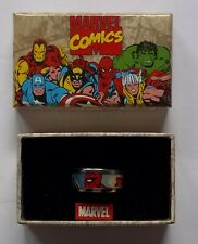 Size 12 Marvel Spider-Man Stainless Steel & Enamel Ring - NOS