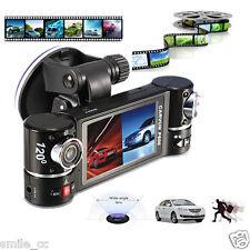 "F600 2.7"" Dual Lens Car Camera Vehicle DVR Dash Cam Video Recorder 180 Degree"