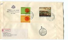1970 FDC San Marino Europa 10° mostra fancobollo NA RACCOMANDATA First Day Cover