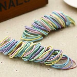 100pc Hair Bands Thick Elastic Ponytail Rubber Hair Tool Durable Quality