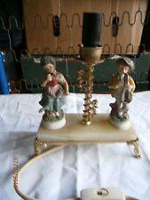 Porcelaine figurines marbre laiton rétro vintage Lampe De Table Lumière Style Antique