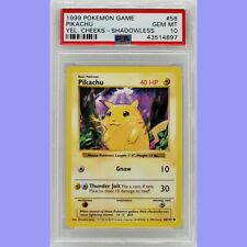 Pokemon Pikachu Yellow Cheeks Shadowless Base Set 58/102 PSA 10 Gem Mint