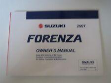 2007 SUZUKI FORENZA MODELS FACTORY ORIGINAL OWNERS MANUAL HANDBOOK
