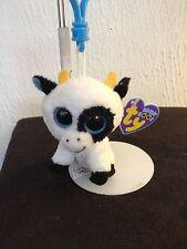 Ty Beanie Boo Boos DAISY the Cow Key Clip MWMT FREE Shipping!!