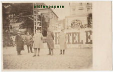 Leipzig Hotel Baustelle Gerüst Personen Enderle Mollier Fotokarte 1928