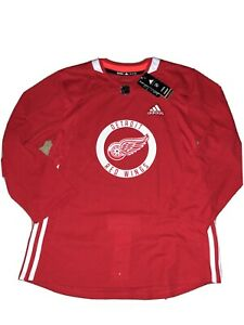 NWT Adidas Detroit Red Wings Climalite Authentic NHL Pro Practice Jersey Sz 46