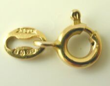 Bolt ring clasp 9 carat 0.25 grams with gold tag. 6mms excluding tag