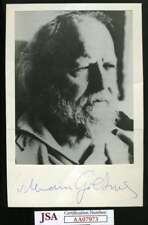 WILLIAM GOLDING Lord Of The Flys JSA Coa Hand Signed 5x7 Photo Authentic Autogra