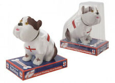 British Bulldog Nodding Dog, Novelty Nodding Dog with England T shirt