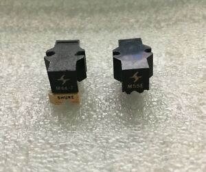 SHURE M44-7 & M55E (2 Cartridge LOT) Tested, (Needs Stylus) Great Sound