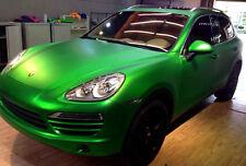 1.5M x 1.52M Matte Metallic Green Satin Vinyl Car Wrap Air Release Squeegee