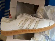 Adidas OG Hamburg Fish Market UK 10 White Leather Deadstock Bnibwt Koln Berlin