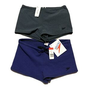 Vintage Swimming Briefs Swim Trunks Size S Blue Competition Made In USA New